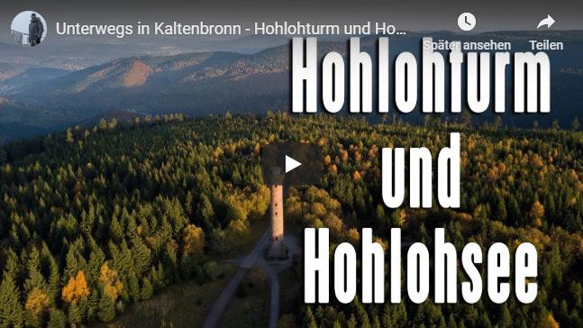 Ferienhaus Enztalblick in Enzklösterle im Nordschwarzwald - Wandervorschlag Hohlohsee - Youtube-Video vom Hohlohsee und Hohlohturm