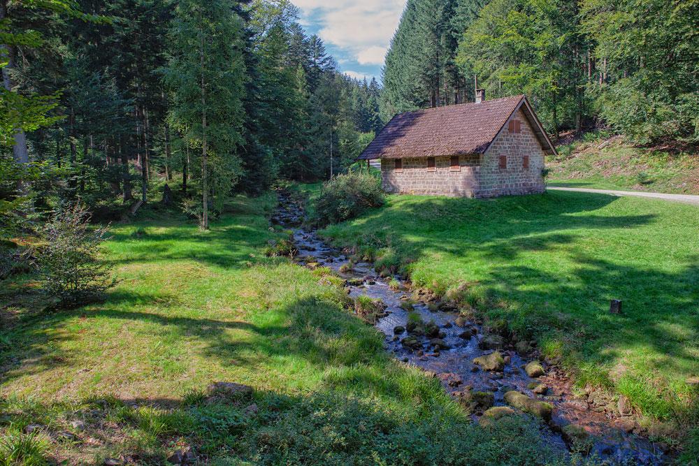 Ferienhaus Enztalblick in Enzklösterle im Nordschwarzwald - Wandervorschlag Eyachtal - Brotenaubach und Rotwasserhütte