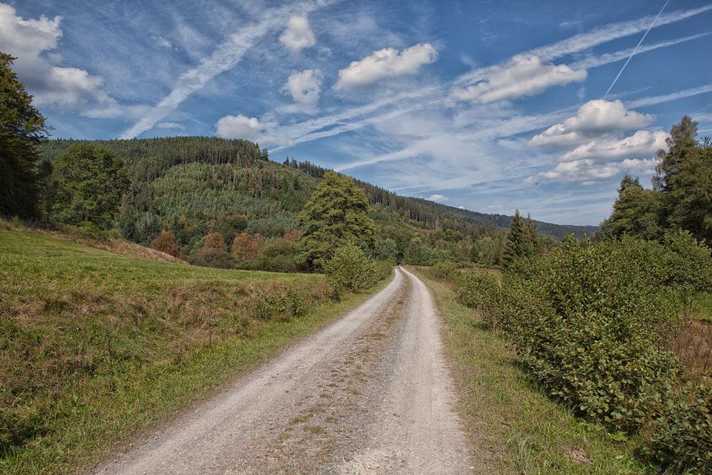 Ferienhaus Enztalblick in Enzklösterle im Nordschwarzwald - Wandervorschlag Eyachtal - Das Tal weitet sich am Ende