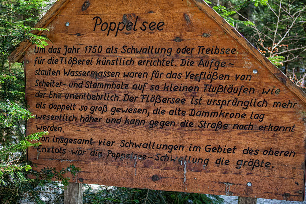Ferienhaus Enztalblick in Enzklösterle im Nordschwarzwald - Wandervorschlag Poppelsee - Informationstafel am See